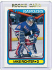 RC~MIKE RICHTER 1990-91 Topps ROOKIE CARD~90~STANLEY CUP~ALL-STAR~AS~RANGERS~NYR