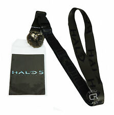Halo 5 Lanyard with Badge ID Holder & UNSC Metal Charm New Official Bioworld