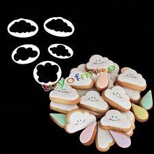 5X Nube pasta de azúcar del cortador de la torta de la pasta de azúcar del molde