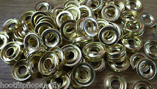 100 SURFACE SCREW CUP WASHERS DIPPED BRASS ON STEEL 5-6 GAUGE  M451-02  BOX 8