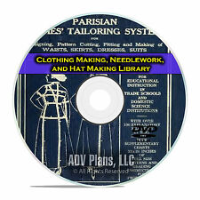 Clothing Making, Needlework, Hat Making Library, Learn to Make Clothes  DVD E33