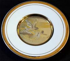 "The Art of Chokin 24Kt Gold Edged 6"" Collector Plate Cranes Made in Japan"