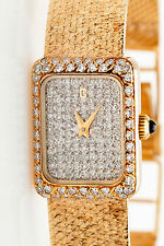 Vintage $8000 2ct VS G Diamond CONCORD Midsize Mens Ladies 14k Gold Watch 41g