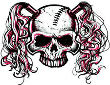 20  WATER SLIDE NAIL ART  DECAL TRANSFERS skull with pig tails