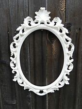 Large WHITE Ornate Baroque OVAL FRAME ~ Wall Art Group ~ Wedding Photo Prop