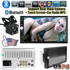 7'' HD Touch Screen Bluetooth Car Stereo Audio 2 DIN FM/MP5/MP3/USB/AUX   Camera