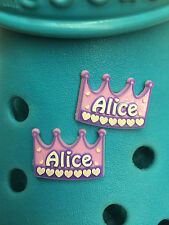 2 Alice Shoe Charms For Crocs & Jibbitz Wristbands. Free UK P&P.