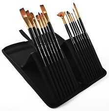 PROFESSIONAL ARTIST PAINT BRUSH SETS - Wide Variety 15 Piece Paintbrush Art Kits