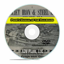 Poor's Manual of Railroads, 24 Railroad Volumes, Financial History DVD E40