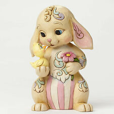 Jim Shore Easter Bunny Rabbit w/Chick Figurine ~ All Ears For Easter ~ 4051399