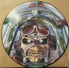 "IRON MAIDEN Aces High 1984 PICTURE DISC Vinyl UK 12"" LP Record +Number Beat Live"