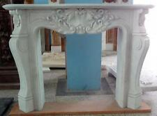 Hand Carved French Design White Marble Fireplace Mantel 97-00063
