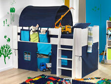 Steens Solid White Midsleeper with Blue Accessories