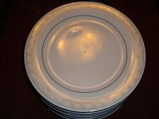 "Crown Ming Fine China Coquille Dinner Pate 10 1/2"" Round Excellent Condition"