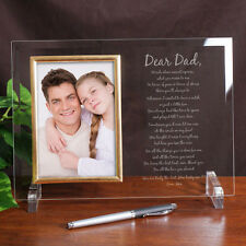 Personalized to My Dad Photo Frame Father Glass Picture Frame Our Poem or Yours
