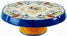 """RICAMO"" CAKE STAND/PLATE and CHIP/DIP HOLDER BY FITZ AND FLOYD - GREAT IDEA!!!!"