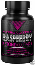 Absonutrix Raspberry Ketone 1000mg Capsules Diet Pills Pure Ketones Trial Deal!