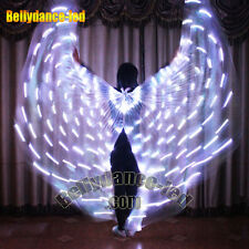 USA! LED isis wings for sale 182 lights white  rechargeable belly dance stick B
