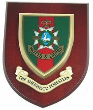 THE SHERWOOD FORESTERS CLASSIC HAND MADE IN UK REGIMENTAL MESS PLAQUE