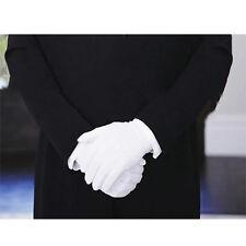 1 Paar Männer Damen Handschuhe weiß mit Druckknopf Partys Hochzeit Chauffeur