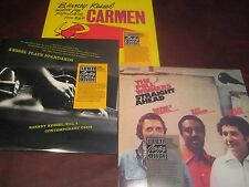 BARNEY KESSEL PLAYS STANDARDS CARMEN & STRAIGHT AHEAD 1986 STICKER 3 LP RARE SET