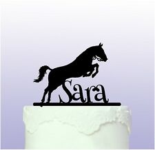 Personalised Jumping Horse Cake Topper