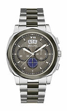 Bulova Men's 98B233 Chronograph Stainless Steel Grey Dial Two-Tone Band Watch