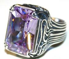 Silpada Cubic Zirconia Sterling Silver Lavender Fields Ring SZ 6 Retired R2001