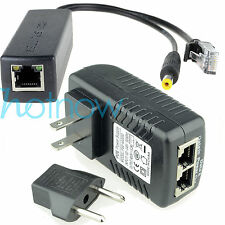 Power Over Ethernet Kit PoE(48V Injector+ 12V Active Splitter) for IP camera AP