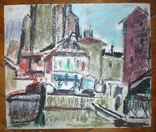 Willy Eisenschitz pastel sur papier signée Expressionnisme Vienne Autriche
