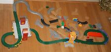 Huge Lot Fisher Price GeoTrax Train Tracks & Accessories 63 pc Train Station Etc