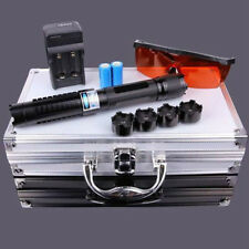 New 8000m Adjsutable Focus 445nm Laser Pointer Pen Blue Visible Beam Lighter