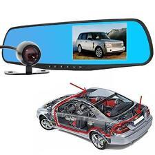 HD 1080P double objectif Video Recorder Dash Caméra Cam Rétroviseur voiture EH