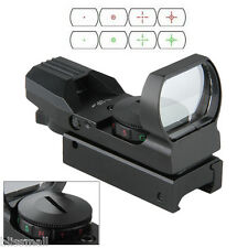 Red Dot Sight Reflex Green Holographic Scope Tactical Rifle Mount 20mm Rail BLK
