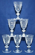 6 x Webb Corbett-Crystal/Cut Glass-Port/Sherry/Liquor/Cordial Glasses/Tots - VGC