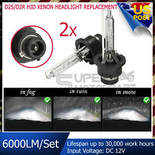 2x 6000LM D2S D2R OEM REPLACEMENT HID Xenon Bulbs to Replace Philips Headlight