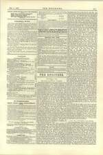 1892 Editorial London Water Question Russian Armour Plate Competition