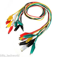 50cm Double-ended Crocodile Clips Cable Alligator Jumper Wire Test Leads - 5 pcs