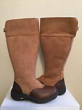 UGG MIKO TALL CHESTNUT WATER RESISTANT LEATHER Boot US 8 / EU 39 / UK 6.5 - NEW