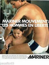 PUBLICITE ADVERTISING 116  1978  Mariner sous vetements slip homme