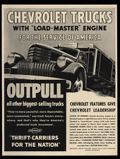 1942 CHEVROLET Heavy Duty Delivery Work Truck w/ Load Master Engine VINTAGE AD