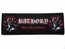 bathory  black metal hordes  WOVEN  PATCH