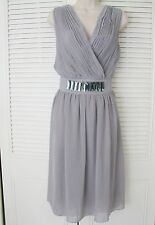 NWOT Jessica London Blush Chiffon Formal Bridal Dress Beaded *ELEGANCE* sz 16