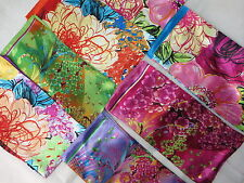 *US Seller*lot of 5 wholesale artificial silk square scarves satin 39 inches