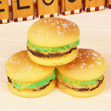 Cute Hamburger Squeaky Sound Plush Toys Dog Puppy Pet Chew Play Toys