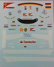 "Ferrari SF15-T Sebastian Vettel "" Driver Decals "" 2015 1/18"