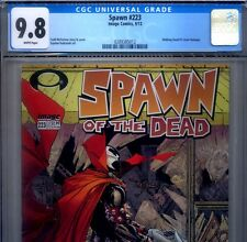 PRIMO:  SPAWN #223 NM/MT 9.8 CGC HIGHEST of the Walking Dead homage comic lot 12