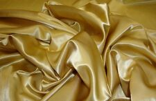 "Satin Bridal HONEY GOLD SOFT Satin drapery dress fabric per yard 60"" Wide"