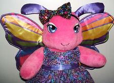 Rare Build a Bear Ltd Edt Rainbow Dreams Butterfly & Sequin Dress,Shoes,Hairband