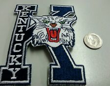 """UK KENTUCKY  WILDCATS VINTAGE  EMBROIDERED  IRON ON PATCH 4"""" X3"""" NCAA CHAMPIONS"""